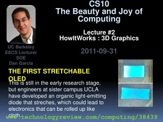The first stretchable Oled
