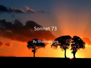 Sonnet 73