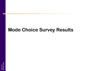 Mode Choice Survey Results