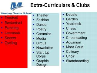 Extra- Curriculars  & Clubs