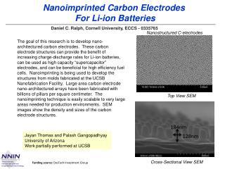 Nanoimprinted  Carbon Electrodes  For Li-ion Batteries