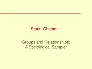 Stark--Chapter 1