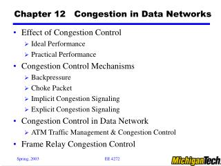 Chapter 12   Congestion in Data Networks