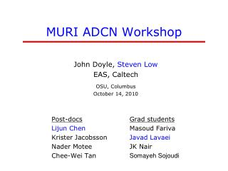 MURI ADCN Workshop