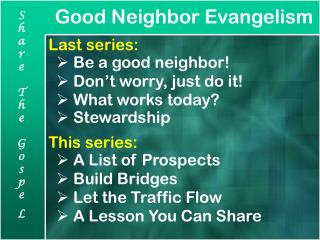 Good Neighbor Evangelism