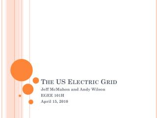 The US Electric Grid
