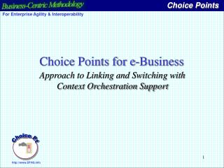 Choice Points for e-Business