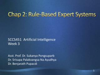 Chap 2: Rule-Based Expert Systems
