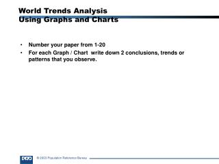 World Trends Analysis  Using Graphs and Charts