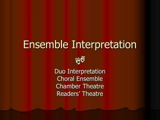 Ensemble Interpretation