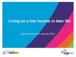 Living on a low income in later life