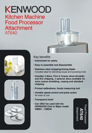 Food Processor AT640 Attachment
