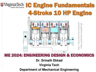 IC Engine Fundamentals 4-Stroke 10 HP Engine
