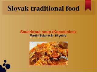 Slovak traditional food