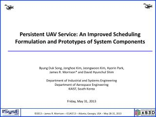 Persistent UAV Service: An Improved Scheduling Formulation and Prototypes of System Components