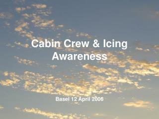 Cabin Crew & Icing Awareness