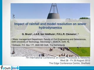 Impact  of rainfall and model resolution on sewer  hydrodynamics