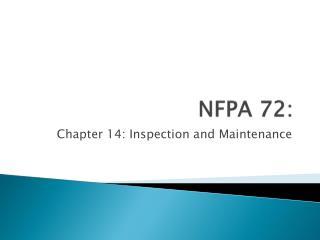 NFPA  72: