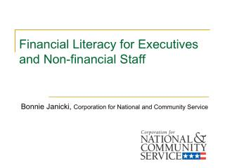 Financial Literacy for Executives and Non-financial Staff