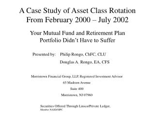 A Case Study of Asset Class Rotation From February 2000 – July 2002