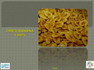 DRIED BANANA CHIPS