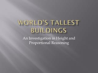 World's Tallest Buildings