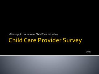 Child Care Provider Survey