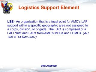 Logistics Support Element