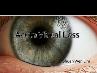 Acute Visual Loss                                                            Dr  Shueh  Wen Lim