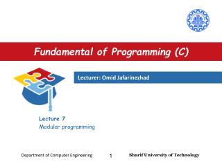 Fundamental of Programming (C)