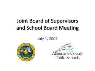 Joint Board of Supervisors and School Board Meeting
