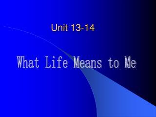 Unit 13-14