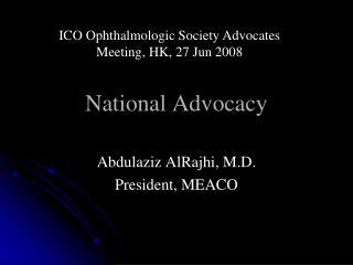 National Advocacy