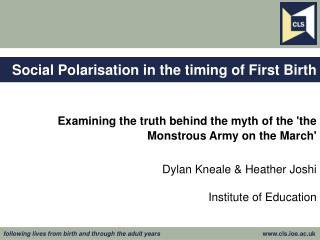 Social Polarisation in the timing of First Birth