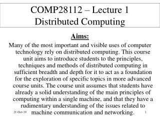 Principles of Computing and Information Technology Lecture 4   Networking, markup languages