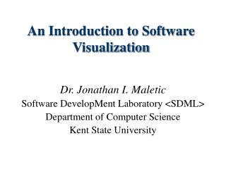 An Introduction to Software Visualization