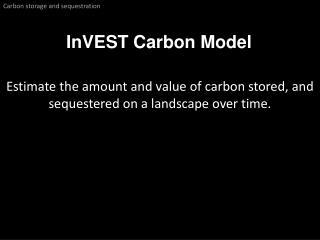 InVEST  Carbon Model
