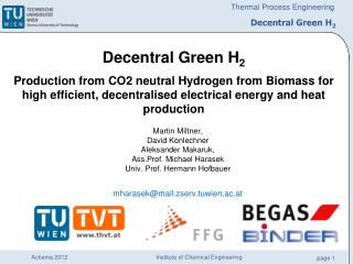 Decentral Green H 2