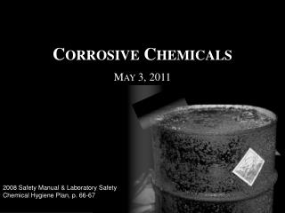 Corrosive Chemicals