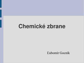 Chemické zbrane