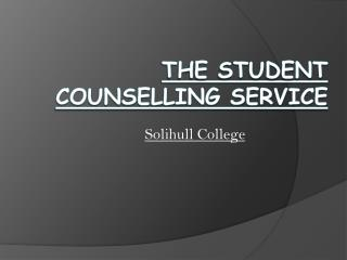 The Student Counselling Service