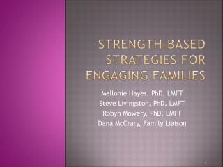 Strength-based Strategies for Engaging Families