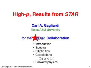 High-pT Results from STAR