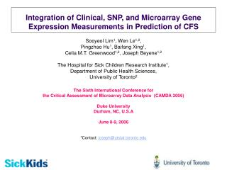 Integration of Clinical, SNP, and Microarray Gene Expression Measurements in Prediction of CFS