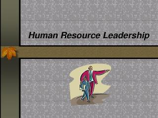 Human Resource Leadership