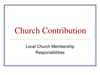 Church Contribution