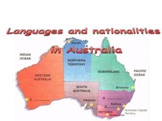 Languages and nationalities  in Australia