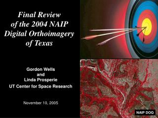 Final Review of the 2004 NAIP Digital Orthoimagery of Texas