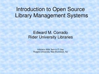 Introduction to Open Source Library Management Systems