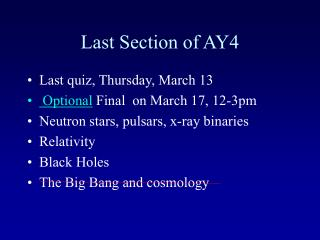 Last Section of AY4